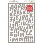 Hazel and Ruby - Stencil Mask - 8 x 12 - Brush Script Alphabet