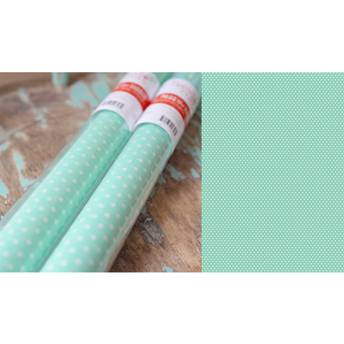 Hazel and Ruby - Pass the Tissue - Tissue Paper Roll - Teal Then with White Polka Dot
