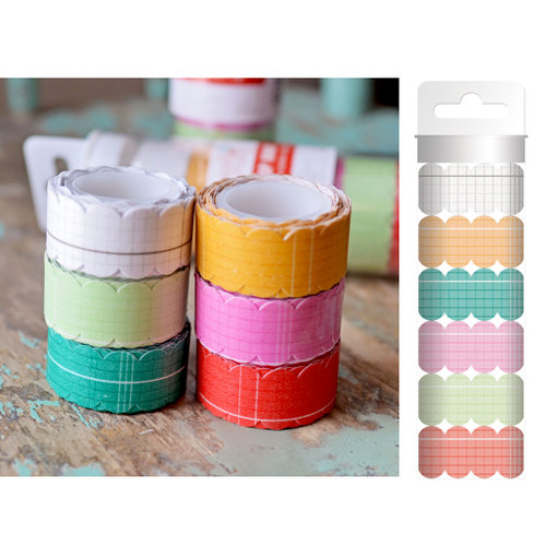 Hazel and Ruby - Scallop Away - Washi Tape - Colorful Ledgers