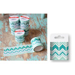 Hazel and Ruby - Fat Roll Washi Tape - Crazy for Chevy - Teals