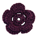 Imaginisce - Out On A Whim Collection - Crocheted Blossoms - Velvet