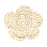 Imaginisce - Out On A Whim Collection - Crocheted Blossoms - French Vanilla