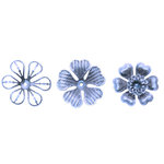 Imaginisce - Out On A Whim Collection - Steel Magnolias - Betty's Brooches - Antique Silver