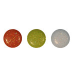 Imaginisce - Candy Cane Lane Collection - 12mm Brads - Glitter Gumdrops, CLEARANCE