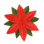Imaginisce - Candy Cane Lane Collection - 2 Inch Petite Poinsettia Vendetta - Red