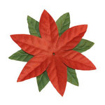 Imaginisce - Candy Cane Lane Collection - 2 Inch Petite Poinsettia Vendetta - Cinnamon