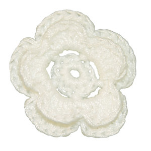 Imaginisce - Bazzill Collection - Crocheted Blossoms - Bazzill White
