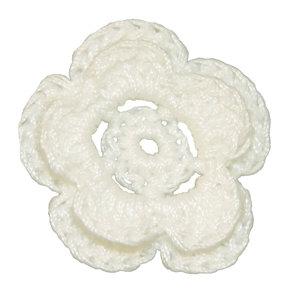 Imaginisce - Bazzill Collection - Crocheted Blossoms - Bazzill White
