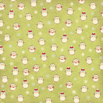 Imaginisce - Candy Cane Lane Collection - 12x12 Paper - Penguins Chillin