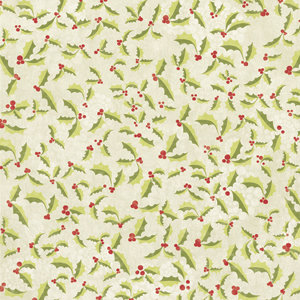 Imaginisce - Candy Cane Lane Collection - 12x12 Paper - Hello Holly