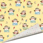 Imaginisce - A Shore Thing Collection - 12x12 Double Sided Paper - Penguin Paradise