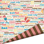 Imaginisce - A Shore Thing Collection - 12x12 Double Sided Paper - Cool Pool Chatter