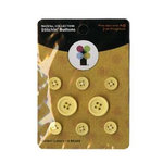 Imaginisce - A Shore Thing Collection - Stitchin' Button Brads - Bright Lights Yellow, CLEARANCE