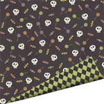 Imaginisce - Hallowhimsy Halloween Collection - 12 x 12 Double Sided Paper - Lollipop Lizzy, CLEARANCE