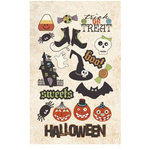 Imaginisce - Hallowhimsy Halloween Collection - Chipboard Stickers - Rest In Pieces, CLEARANCE