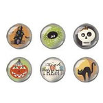 Imaginisce - Hallowhimsy Halloween Collection - Epoxy Brads - Bump in the Night, CLEARANCE