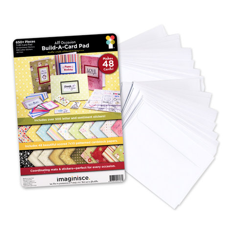 Imaginisce - All Occasion - Build-A-Card Pad with Envelopes