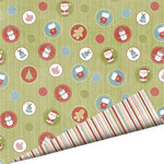 Imaginisce - Snowy Jo Winter Christmas Collection - 12 x 12 Double Sided Paper - Jingle Baubles