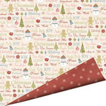 Imaginisce - Snowy Jo Winter Christmas Collection - 12 x 12 Double Sided Paper - Cup O Cheer