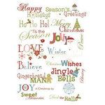 Imaginisce - Snowy Jo Winter Christmas Collection - Rub Ons - Fa la la la la (la la la la), CLEARANCE