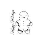 Imaginisce - Snowy Jo Winter Christmas Collection - Snag'em Acrylic Stamp - Gingerbread Man, CLEARANCE