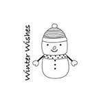 Imaginisce - Snowy Jo Winter Christmas Collection - Snag'em Acrylic Stamp - Snowy Jo Winter Christmas, CLEARANCE