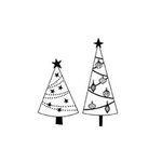 Imaginisce - Snowy Jo Winter Christmas Collection - Snag'em Acrylic Stamp - Trees, CLEARANCE