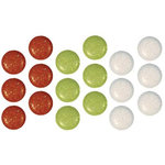 Imaginisce - Snowy Jo Winter Christmas Collection - 12mm Mixed Glitter Brads - Gumdrop, CLEARANCE