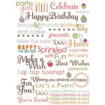 Imaginisce - All Kinds of Happy Collection - Rub Ons - Delicious Wishes - Birthday