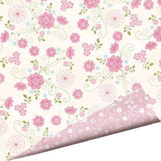 Imaginisce - Fairest of Them All Collection - 12 x 12 Double Sided Glitter Paper - Enchanted Garden
