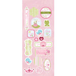 Imaginisce - Fairest of Them All Collection - Glitter Chipboard Stickers - Royal Touch