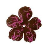 Imaginisce - Gotta Buy Basics Collection - Flourish Flowers - Brown Flourish, CLEARANCE