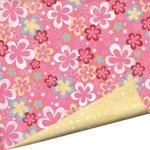 Imaginisce - Summer Cool Collection - 12 x 12 Double Sided Gloss Embossed Paper - Strawberry Sorbet, CLEARANCE