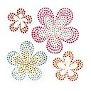 Imaginisce - Summer Cool Collection - Studded Stickers - Hot Hibiscus, CLEARANCE