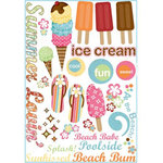 Imaginisce - Summer Cool Collection - Rub Ons - Summer Lovin'
