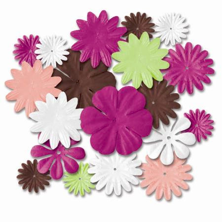 Imaginisce - Summer Cool Collection - Petal Pops Flowers - Tropical Mix, CLEARANCE