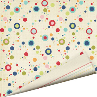 Imaginisce - Teachers Pet Collection - 12 x 12 Double Sided Gloss Embossed Paper - Wipe That Up