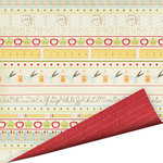 Imaginisce - Teachers Pet Collection - 12 x 12 Double Sided Gloss Embossed Paper - My New Pencil Box