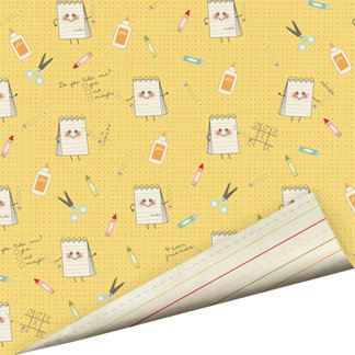 Imaginisce - Teachers Pet Collection - 12 x 12 Double Sided Gloss Embossed Paper - No Passing Notes