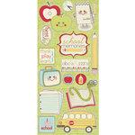 Imaginisce - Teachers Pet Collection - Glossy Chipboard Stickers - I Love School, BRAND NEW