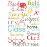 Imaginisce - Teachers Pet Collection - Rub Ons - Teacher Talk, CLEARANCE