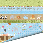 Imaginisce - Wild Things Collection - 12 x 12 Double Sided Gloss Embossed Paper - Safari Party