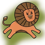 Imaginisce - Wild Things Collection - Snag 'em Acrylic Stamps - Lion