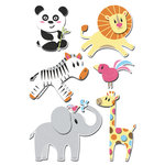 Imaginisce - Wild Things Collection - Sticker Stackers - 3 Dimensional Stickers - Safari