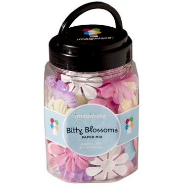 Imaginisce - Bitty Blossoms - Paper Flower Mix Jar, CLEARANCE