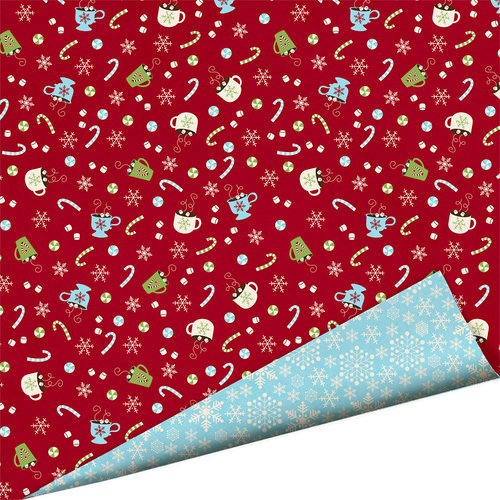 Imaginisce - Polar Expressions Christmas Collection - 12 x 12 Double Sided Paper - Comfy Cozy