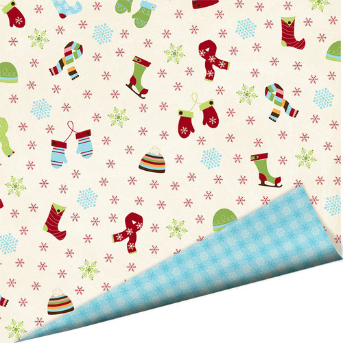 Imaginisce - Polar Expressions Christmas Collection - 12 x 12 Double Sided Paper - All Bundled Up