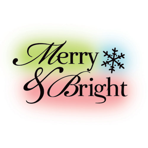 Imaginisce - Polar Expressions Christmas Collection - Snag 'em Acrylic Stamps - Merry and Bright
