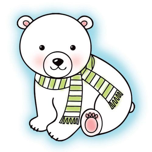 Imaginisce - Polar Expressions Christmas Collection - Snag 'em Acrylic Stamps - Polar Bear