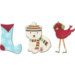 Imaginisce - Polar Expressions Christmas Collection - Felt Pieces - Polar Fleece